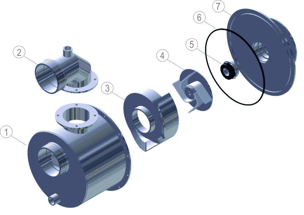 """3"""" Volute for Motorpump (7CV-Diesel Branco Engine)"""