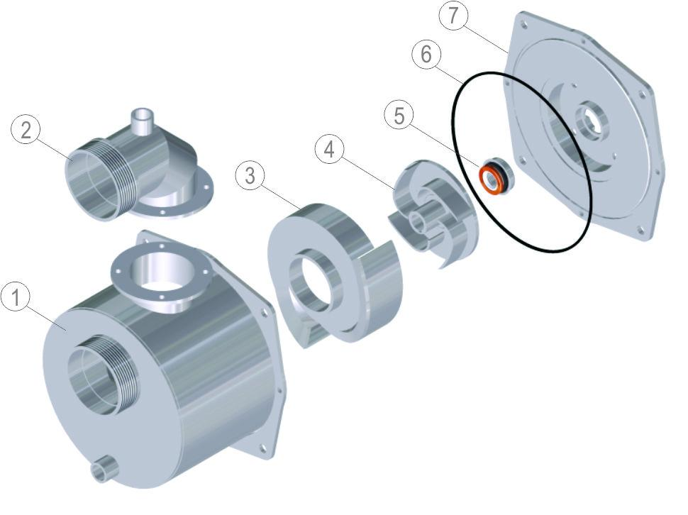 "3"" VOLUTE FOR MOTORPUMP (HONDA, BRANCO OR BÚFALO ENGINE - KEYED SHAFT)"