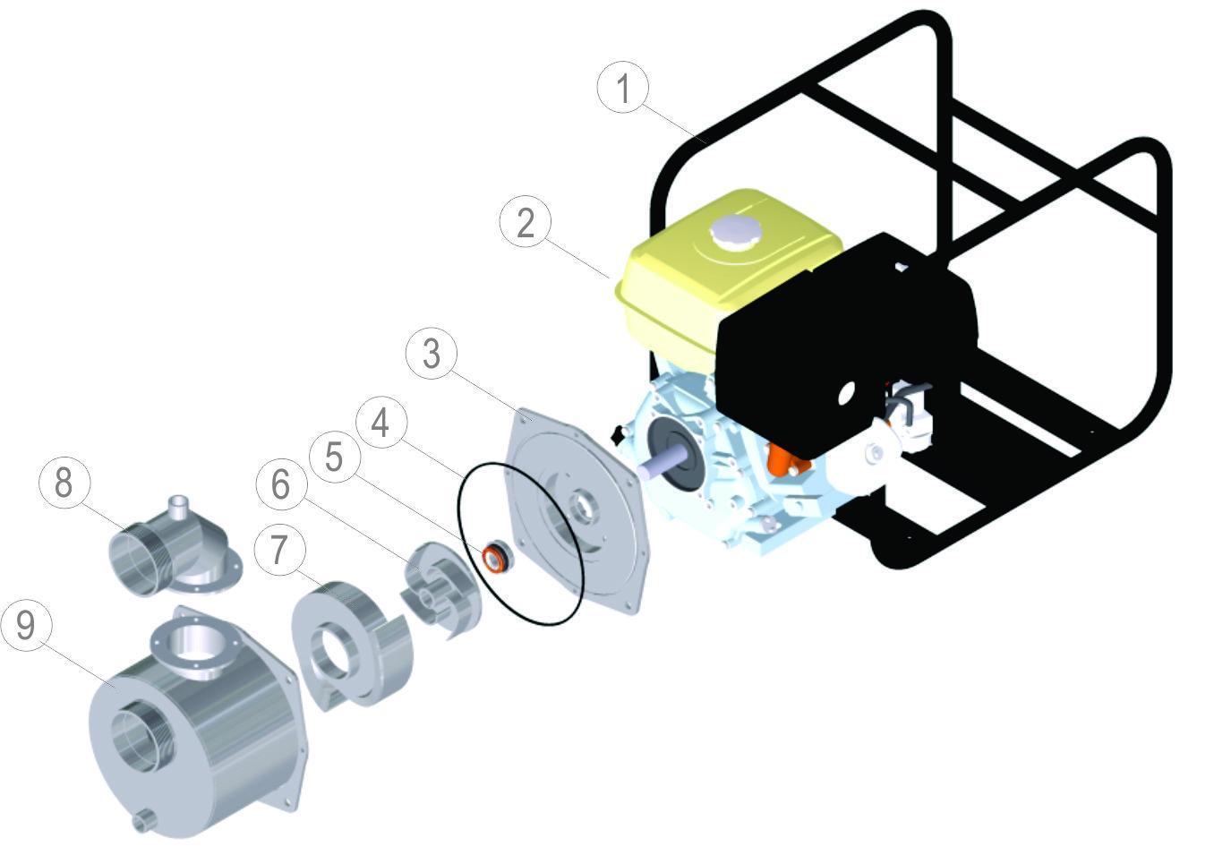 """3"""" MOTORPUMP (6.5HP HONDA ENGINE - KEYED SHAFT)"""