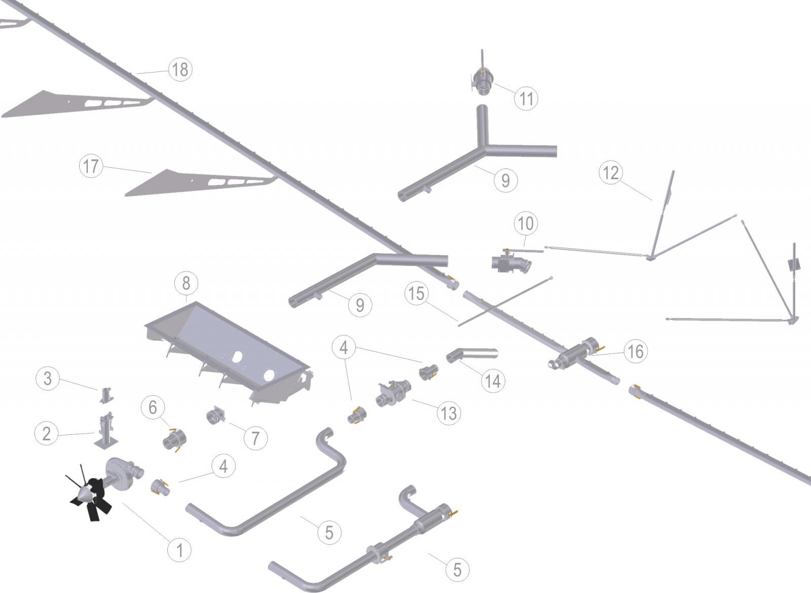 SISTEMA PULVERIZAÇÃO AIR TRACTOR 602